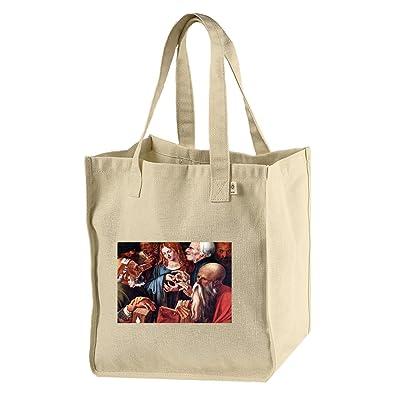 12 Year Old Jesus & The Scribes (Durer) Hemp/Cotton Canvas Market Bag Tote