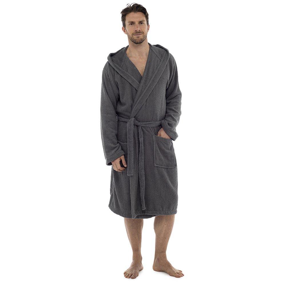 Di Lusso Da Uomo 100% Spugna Di Cotone Accappatoio Vestaglia Avvolgente Abbigliamento da notte HT566