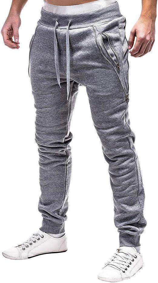 メンズカジュアルパンツ ズボン スポーツジッパーラッシングベルトカジュアルルーズスウェットパンツドローストリングパンツ