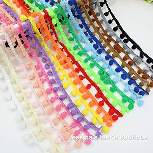 30 m cinta pasamaneria madroños algodon de 17 colores 1.80 m de ...