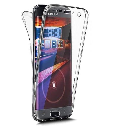EUWLY Carcasa Huawei P20 Lite, Funda Huawei P20 Lite 360 Grados Ultra Slim Silicona Transparente Funda con Tapa Delantera y Trasera Full Body ...