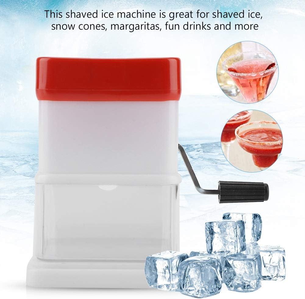DGTRHTED Ice Shaver Portable Manual Ice Shaver Shredding Machine Crusher Snow Cone Maker Fruit