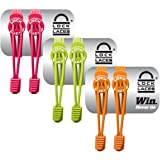 LOCK LACES - Elastic No Tie Shoe Laces (Pack of 3) One Size Fits All, for Kids and Adults, Elastic No Tie Shoe Laces