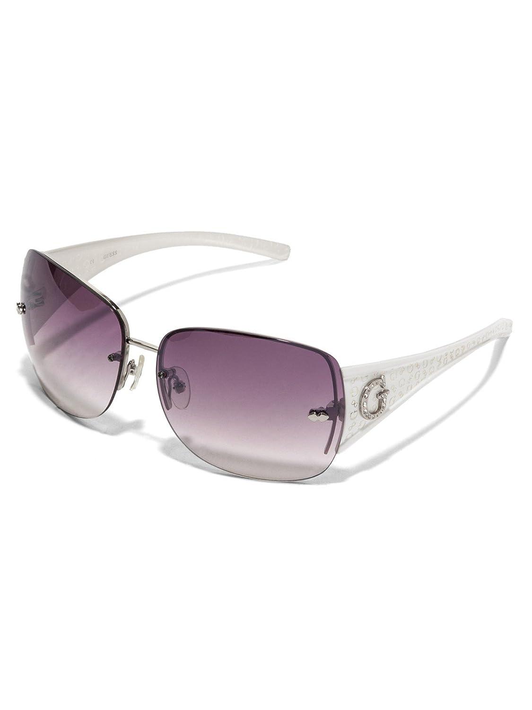 ac785e544cb GUESS Factory Women s Rimless Shield Sunglasses at Amazon Women s Clothing  store