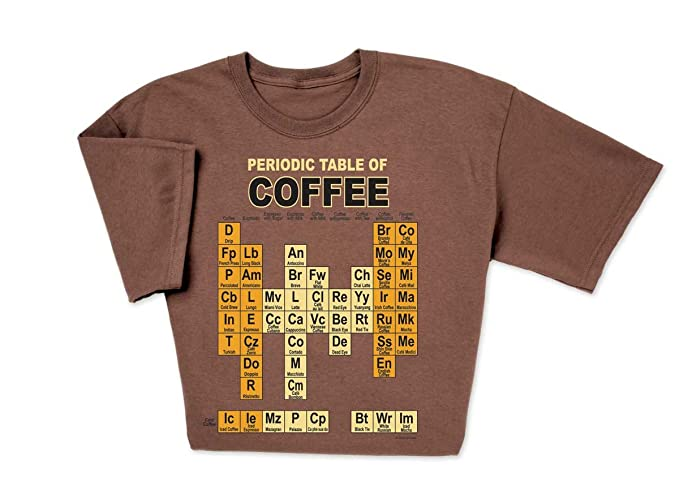 Amazon Computergear Periodic Table Of Coffee Science Geek T