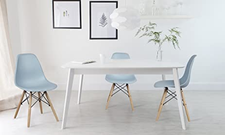 GIA Fog Gray Armless Home Office Side Dining ChairSet Of 4