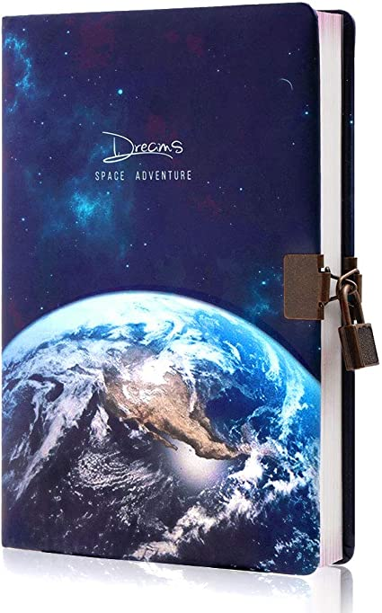 Dry Planet Stars Dark Night Sky Question Notebook Classic Journal Diary A5