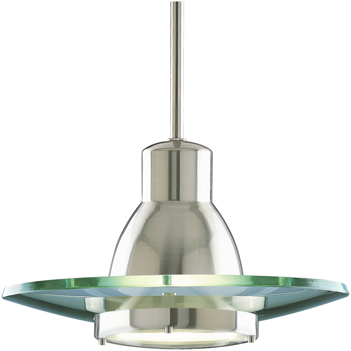 Progress Lighting P5003-09 1-Light Stem-Hung Mini-Pendant with Clear ...