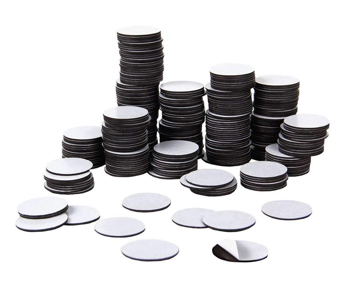Hygloss Products Self Adhesive Magnetic Coins, 3/4'', Black, 300 Pieces (61403) by Hygloss (Image #2)