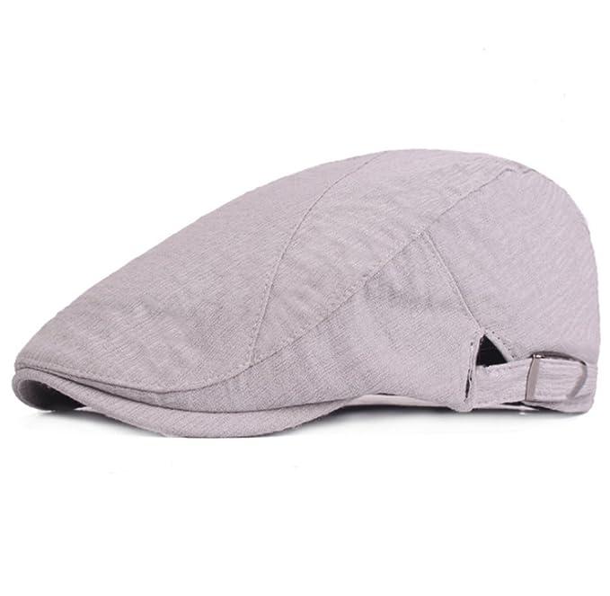5060c2a31a562 Leisial Boina de Algodón y Lino Casual Sombreros de Verano Sombrero para el Sol  Gorro al Aire Libre Deportes para Hombre Mujer 55-59cm