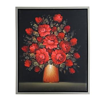 STJK$BMJW Handgeschilderde Mooie Wand Abstracte Kunst Zwart Rood ...