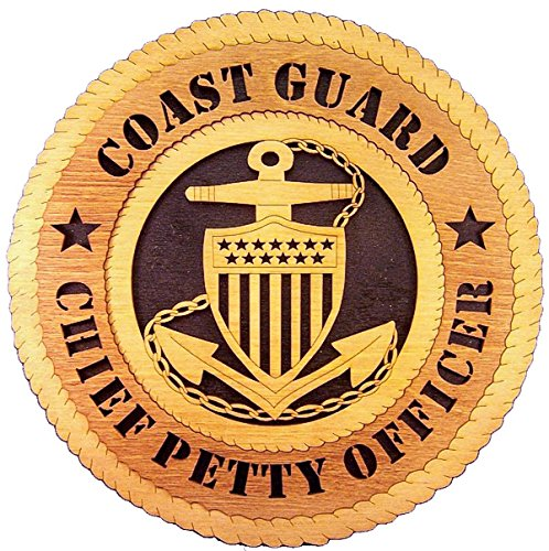 Coast Guard Chief Petty Officer (Laser Engraved, Personalized WT317 Coast Guard Chief Petty Officer Wall Plaque)