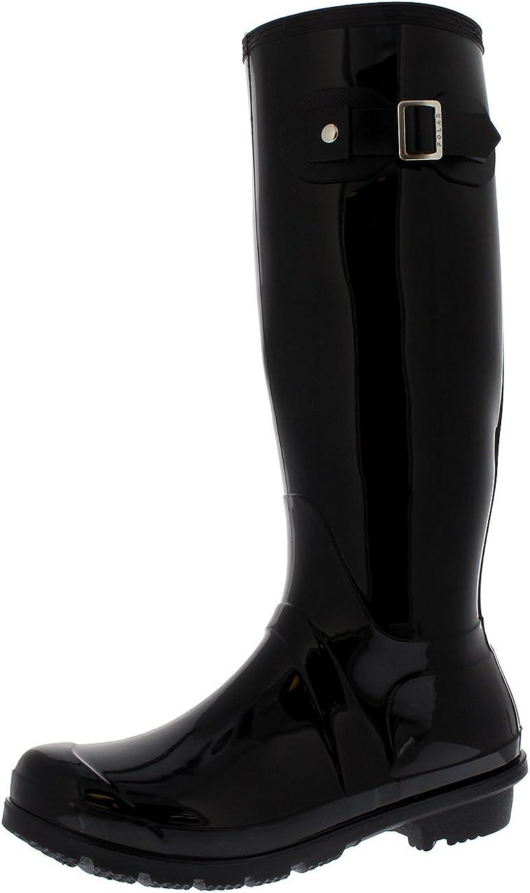 Womens Snow Tall Waterproof Rain Muck Dog Walking Buckle Wellington Boot