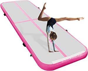 ZYZCBXZC 10/13/ft Inflatable Gymnastics Training Mats Air Track 4 Inch Tumbling Mats with Electric Pump for Home Use/Practice Gymnastics/Cheerleading/Yoga/Water Fun