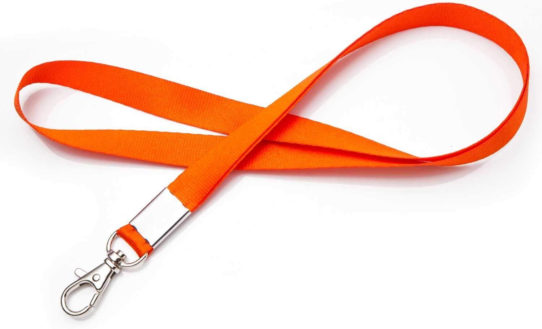 Dyzd - Cordón para el cuello con cordón para el cuello con gancho de metal para el nombre de los sujetadores, llaves, llaveros, etc.: Amazon.es: Oficina y papelería
