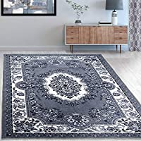 Superiors Designer Non-slip Seraphina Area Rug; Digitally Printed, Low Maintenance, Affordable and Fashionable, Black White - 2 x 3