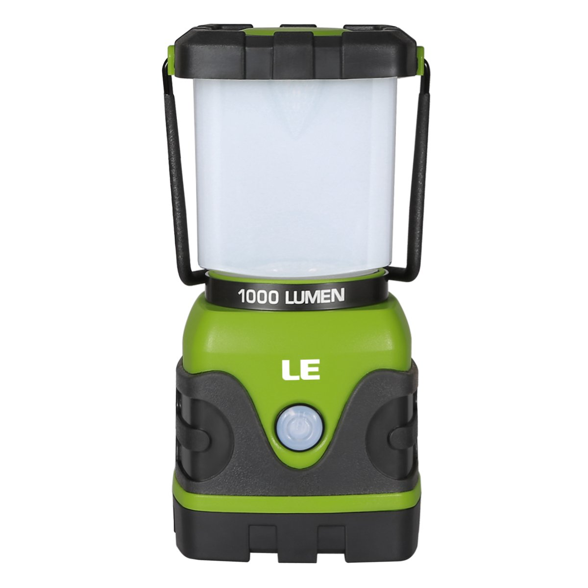 LE Portable LED Camping Lantern, 1000lm, Dimmable, 4 Lighting Modes, Battery Powered Tent Light for Home, Garden, Outdoor, Hiking, Fishing, Emergency and more