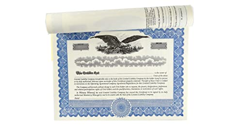 amazoncom blank membership certificates with stubs for limited liability company llc office products