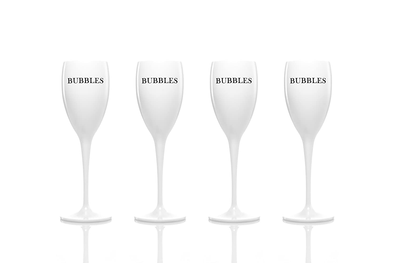 96bacda3c1a1 Set of 4 - Unbreakable acrylic champagne flutes glasses by dePrado´s. Best  for Moet Chandon summer parties! No glass