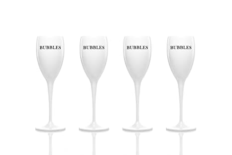 8cd84b06a70f Set of 4 - Unbreakable acrylic champagne flutes glasses by dePrado´s. Best
