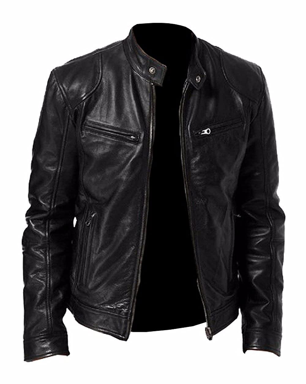 The Sparks Up Inc. Casual Wear Stylish Sword Genuine Leather Biker Jacket