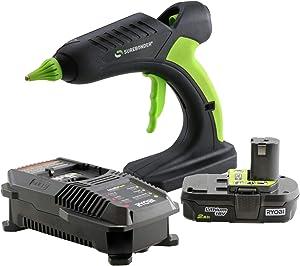 PRO2-60KIT 60 Watt Cordless Professional Heavy Duty Hot Glue Gun Kit-Full Size-Ryobi Battery & Charger Included