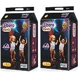 Libero Baby's Cotton Diaper Pants Medium (White, 1-2 years)-Pack of 2