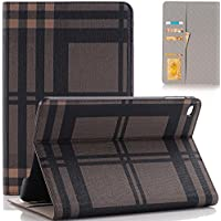 iPad Pro 12.9 Case, SAVYOU Grid Pattern Design Slim PU Leather Wallet Smart Shell Cover Stand Case With Card Slots Feature for Apple iPad Pro 12.9 2015 Tablet ( with Auto Wake / Sleep)