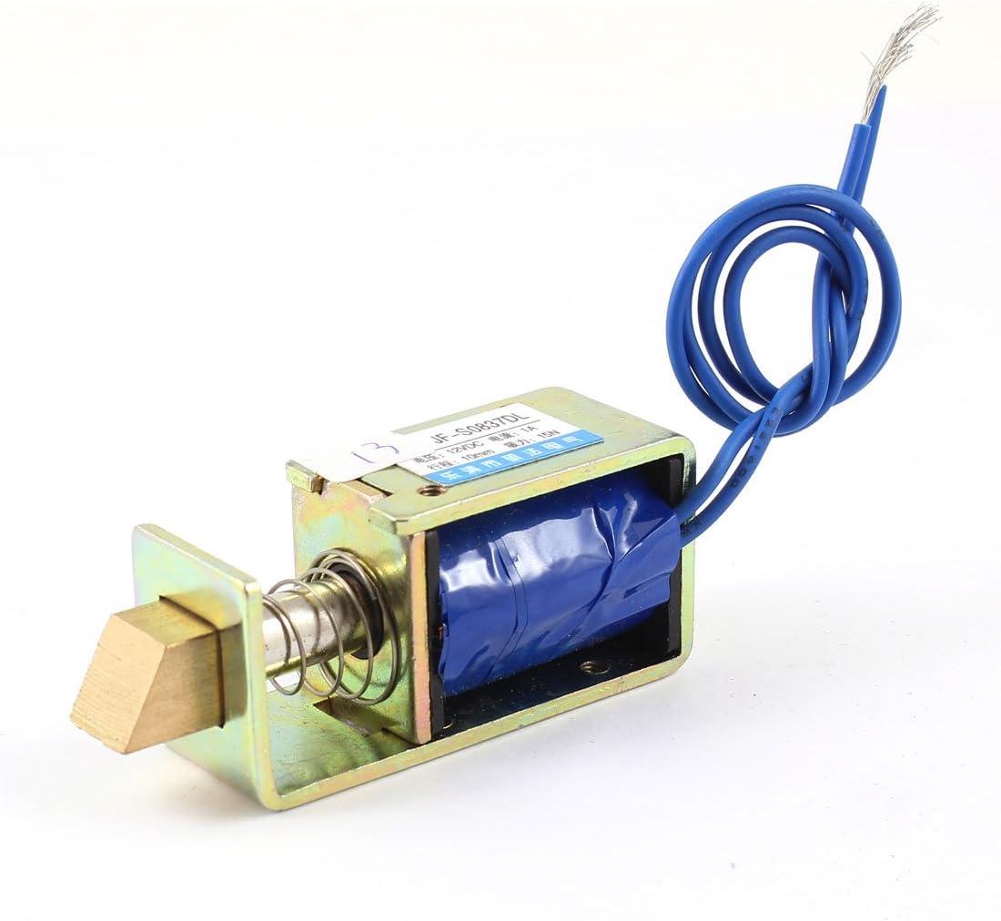Sourcingmap a14032500ux0394-12v 1,5 kg de fuerza de energía ahorro electroimán de corriente continua de tracción solenoide