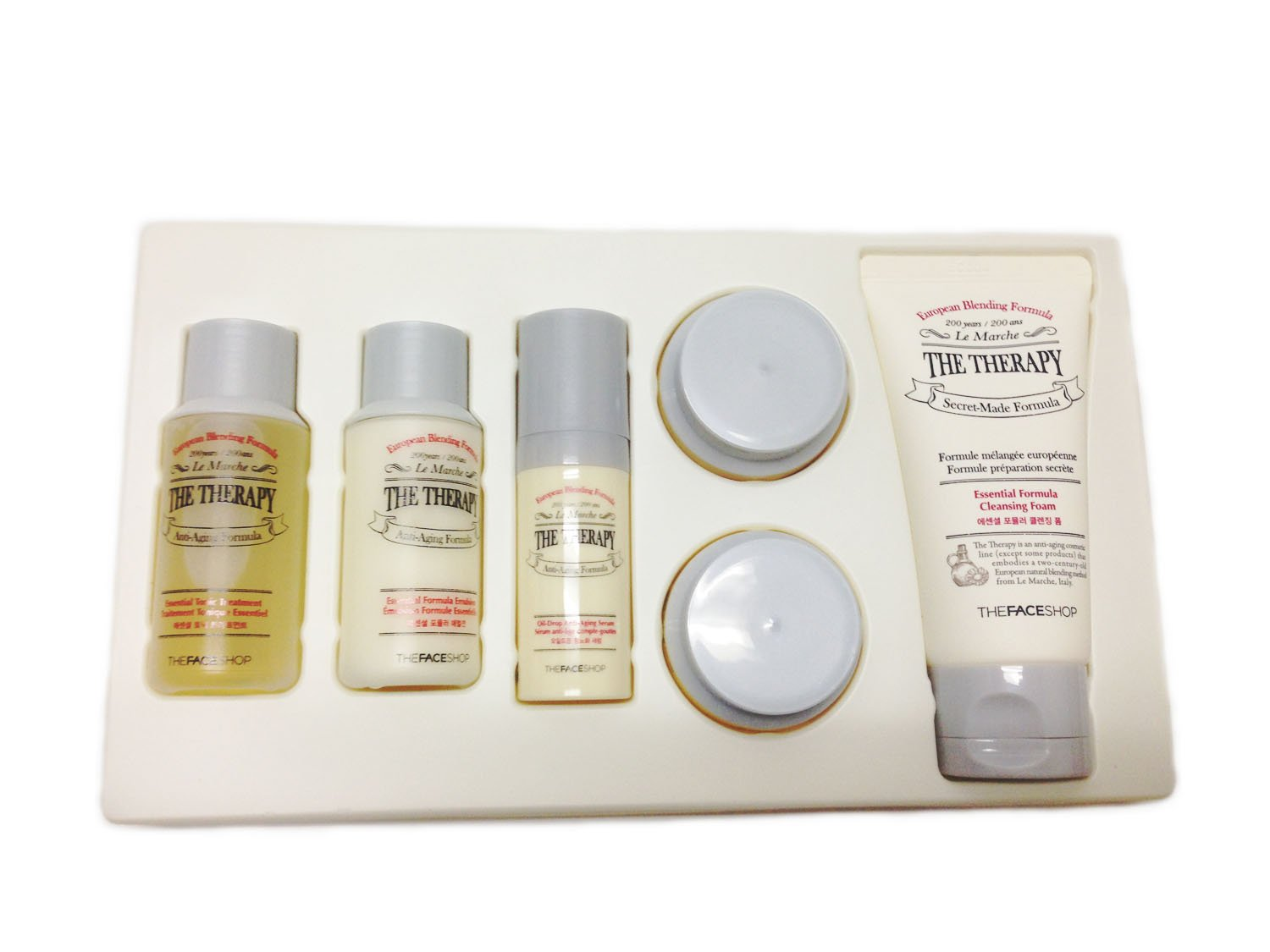 [The Face Shop] The Therapy Secret-made Formula 6pcs Skin Care Set (Skin + Emulsion + Cream ...