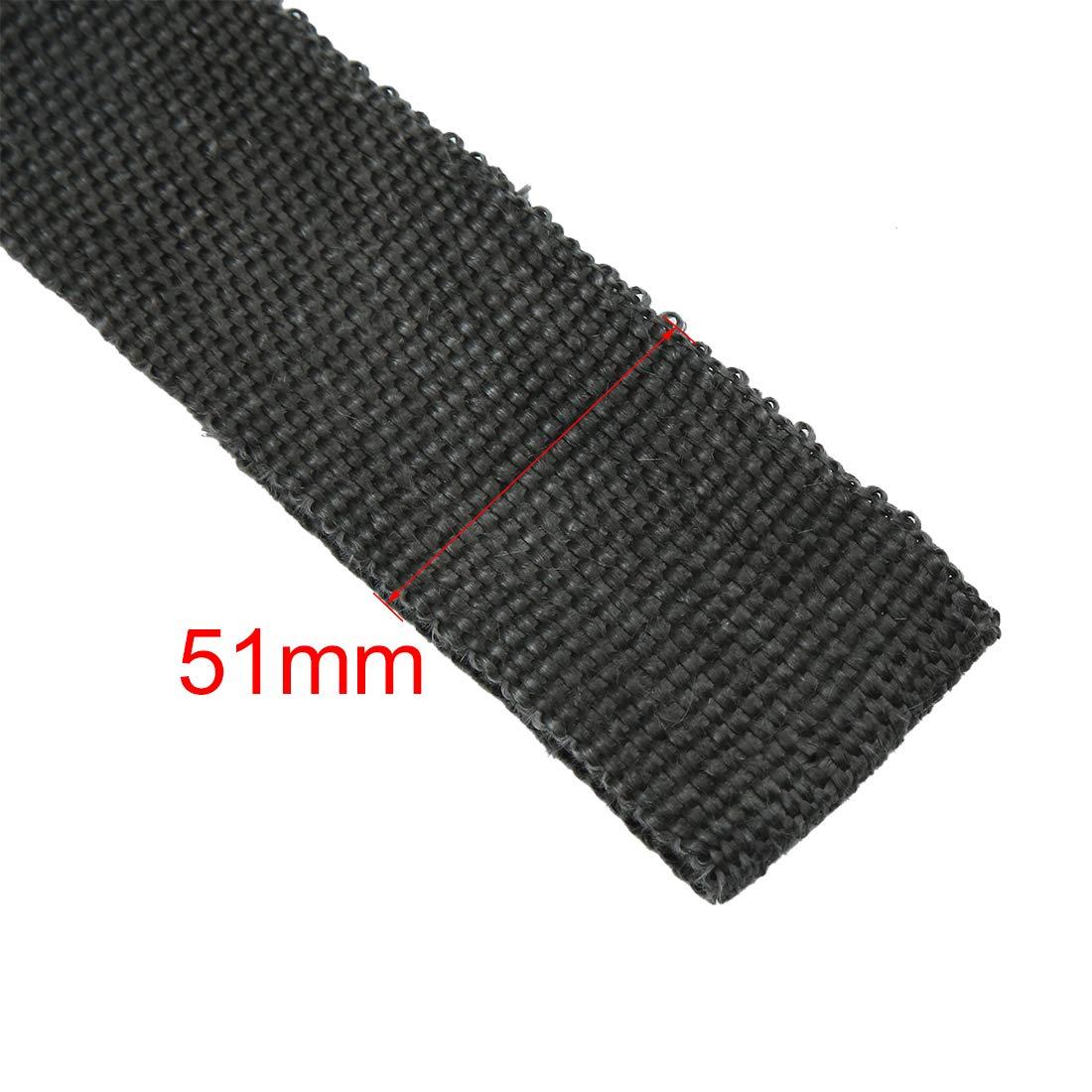 X AUTOHAUX 7.5m Black Fiberglass Exhaust Heat Insulating Wrap Repairing Sealing Tape for Car