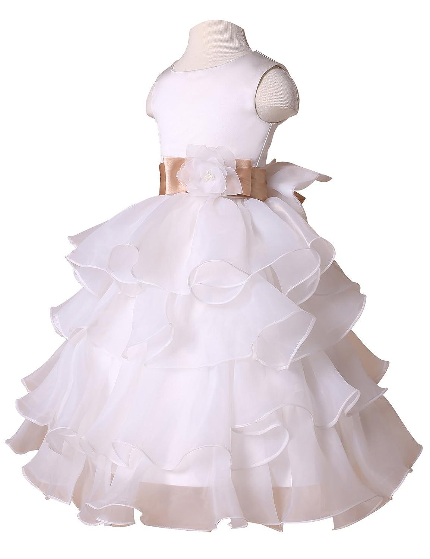 GRACE KARIN Vestido para niñas, color blanco, talla 42160: Amazon.es: Ropa y accesorios