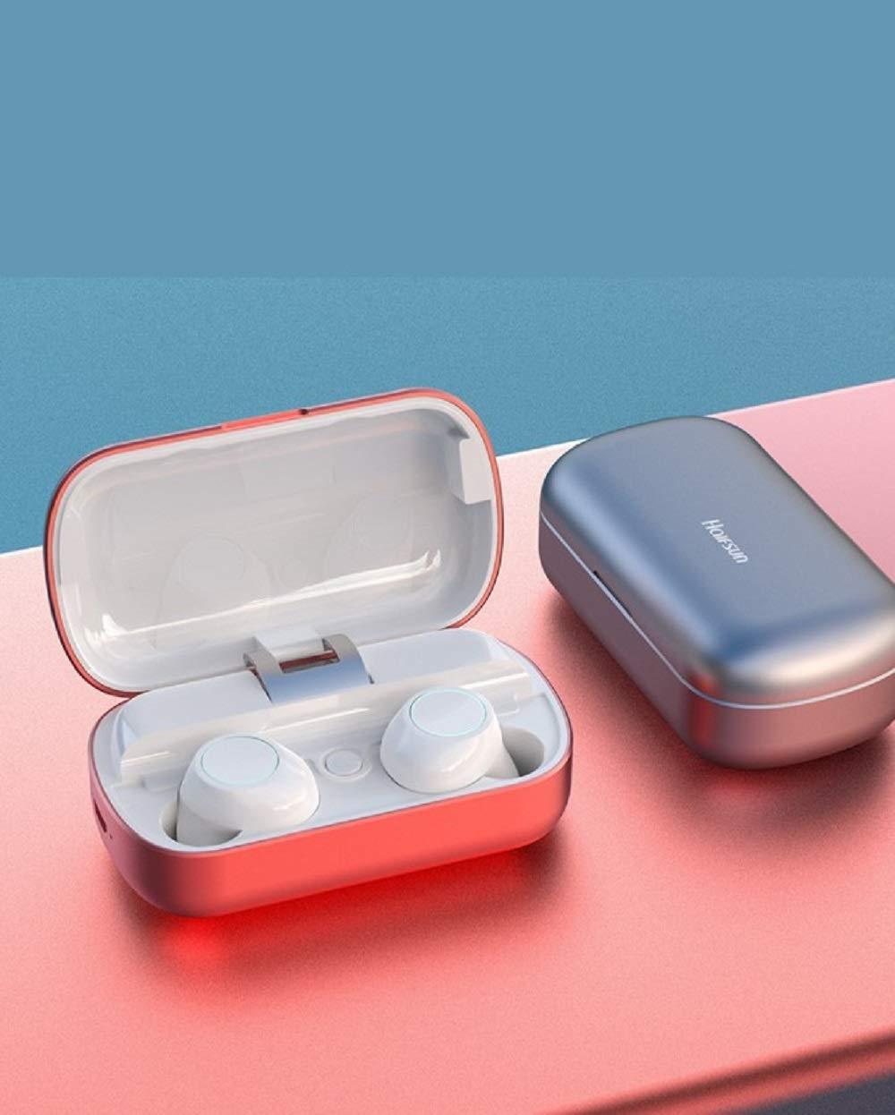 「絶賛HIFI高音質ブルートゥースイヤホン」進化版のブルートゥース技術、ノイズキャンセリング、自動ペアリング、簡単操作、連続再生時間は100h以上、hifi高音質、3200mAH大容量充電ケース、8H音楽聴き、防水防汗、スポーツに向ける (Color : Black) B07Q2Y2T2R