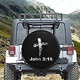 John 3:16 Bible Verse God Cross Spare Tire Cover