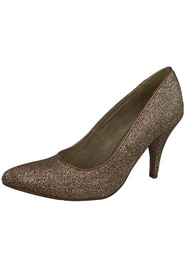 Pfennig High Tamaris Heels Glamour Absatz Glitzer Gold Pumps Gala pqSzVUM