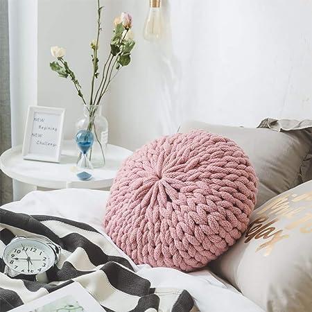 QJXX Home Decor Maglia A Mano Rotonda Filo Spesso Cuscino ...