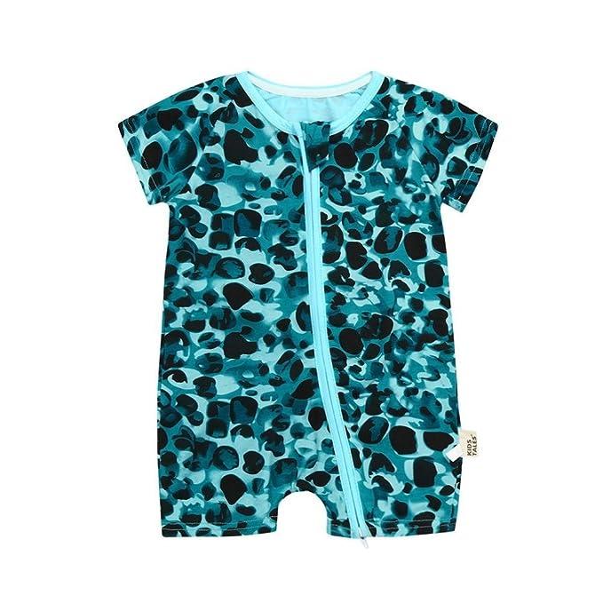 Amazon.com: lisin bebé recién nacido niño niña manga corta o ...
