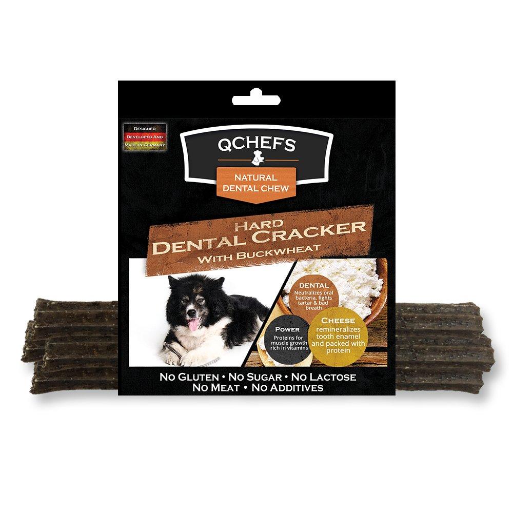Qchefs Power Series Hard cheese & Buckwheat Dental Dog Treat (4 Pack), 3 oz