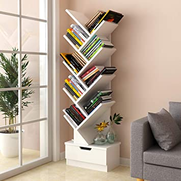 Tree Shaped Bookshelves Book Lockers Floor Space Shelves Student Bedroom Simple Bookcases Simple Storage Shelves A Bookshelf Amazon Co Uk Diy Tools