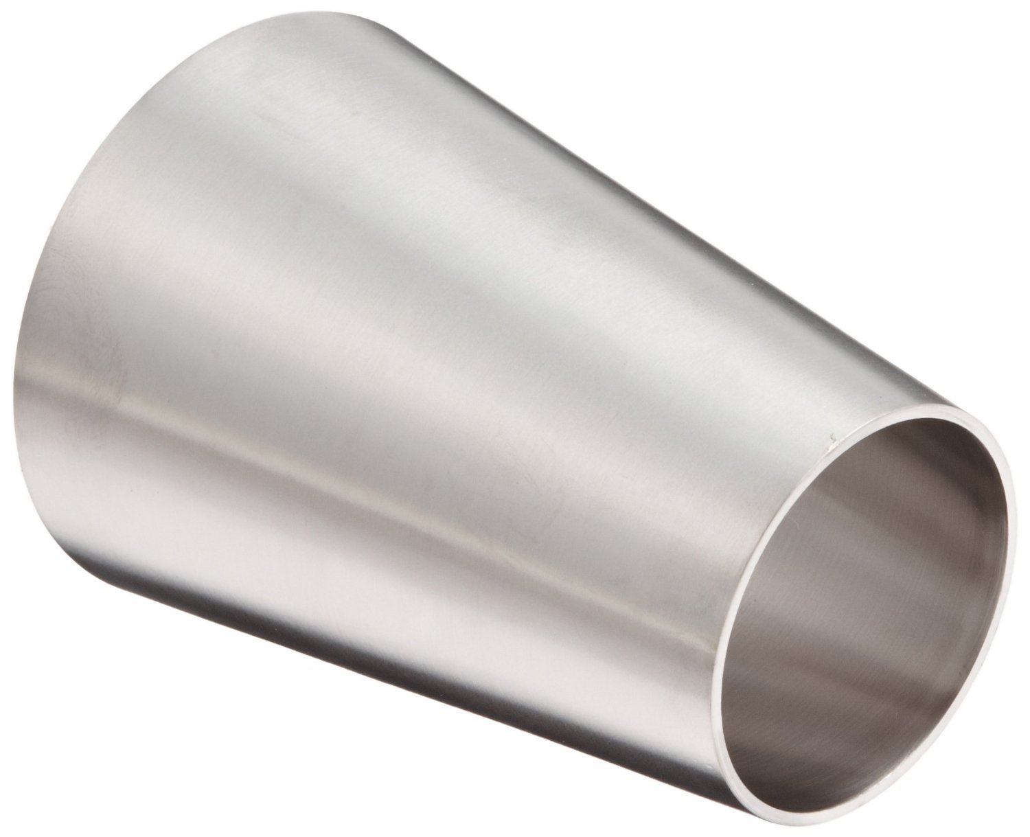 DixonB31W-G300200P Stainless Steel 304 Polished Fitting, Weld Concentric Reducer, 3'' Tube OD x 2'' Tube OD