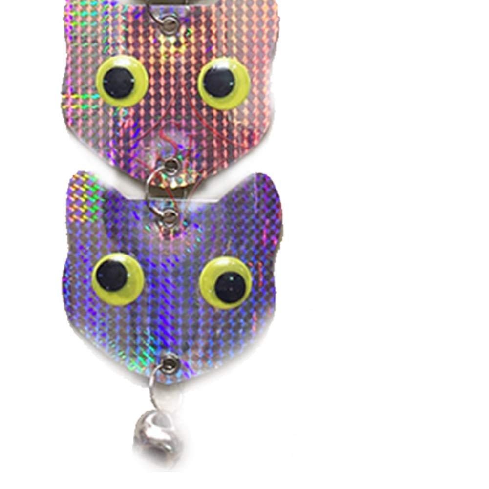 kakakooo Owl R/épulsif Oiseaux appareils /à Double Face r/éfl/échissante Scare Oiseaux Holographic Woodpecker r/éfl/échissant 5 T/êtes Dissuasion Owl B