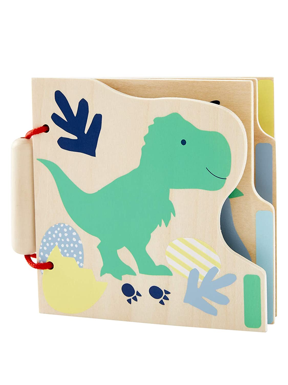 VERTBAUDET Livre d/éveil en bois Le monde des dinosaures MULTICOLORE TU