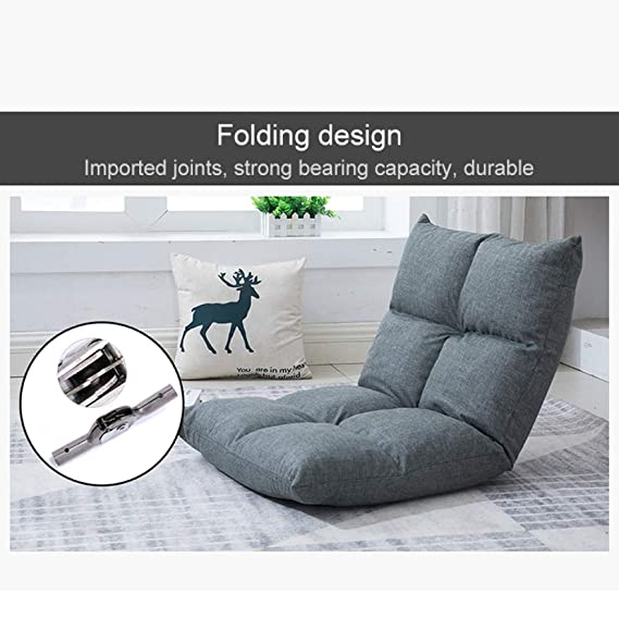 Amazon.com: JXHD Silla de sofá plegable individual/silla sin ...