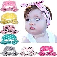 Frmarche Turbantes Bebé Niña Arco Adorable Bandas Elástica de Cabello para Cabeza con Oídos de Conejo