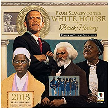 "African American Expressions - 2018 Black History 16 Month Calendar feat. Thomas Blackshear (12"" x 12"") WC-165"