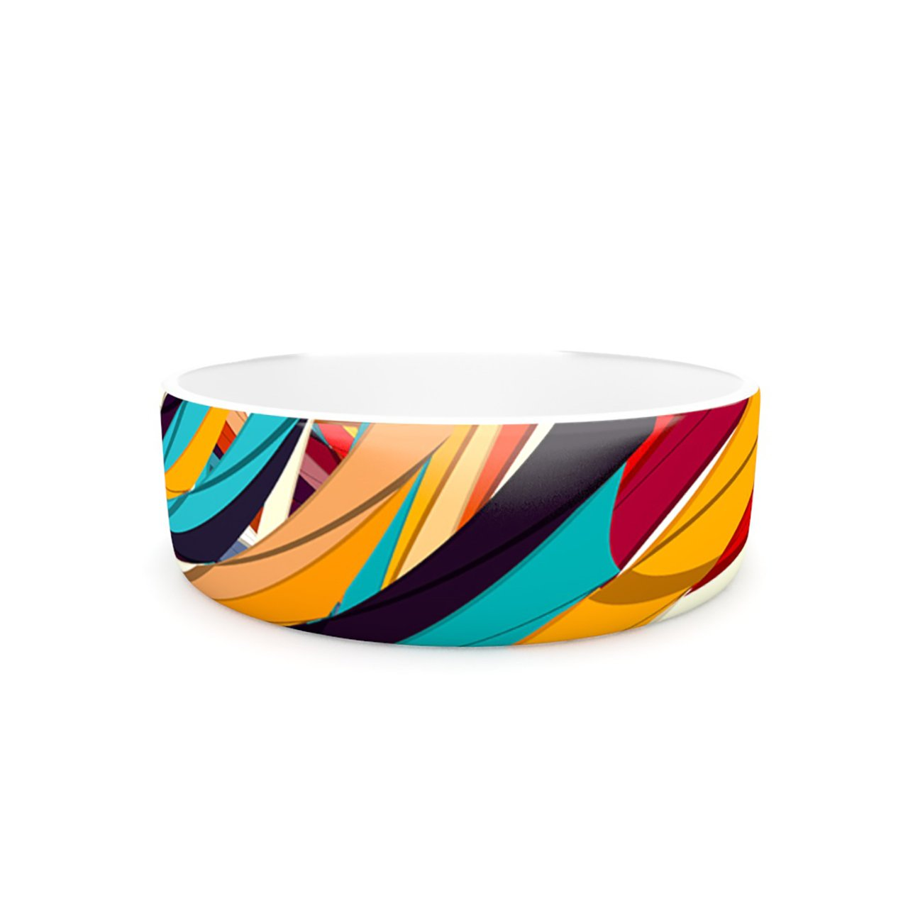 Kess InHouse Danny Ivan Demy World  Pet Bowl, 7-Inch, orange Yellow