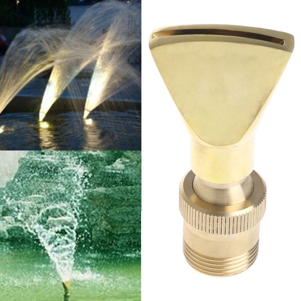 Homyl 4Pcs Brass Fan Shape Jet Water Fountain Nozzle Spray Sprinkler Head Set, Full body brass construction by Homyl (Image #6)