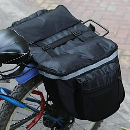 Outdoor Bike Rear Seat Trunk Rack Pack Bag Bicycle Cycling Double Pannier