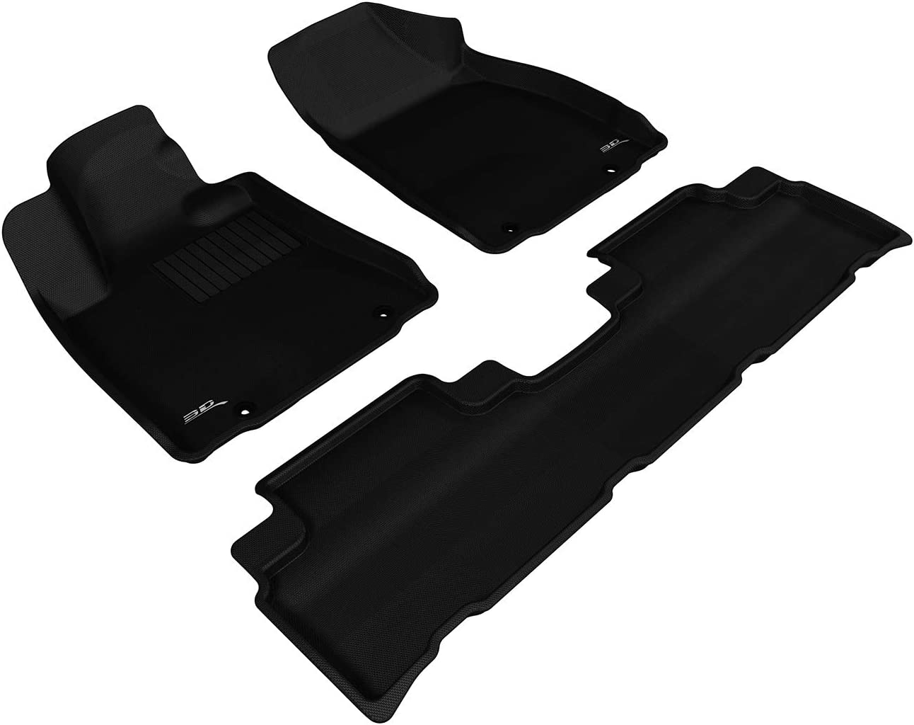 Kagu Rubber 3D MAXpider Complete Set Custom Fit All-Weather Floor Mat for Select Lexus RX350//450H Models Black
