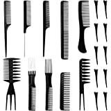 Faburo 20 PCS Hair Stylists Professional Styling Comb and Clip Set